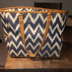 Thirty One Indigo Ink Tote
